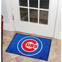 "Click here to learn more about the Chicago Cubs Starter Rug 20""x30""."