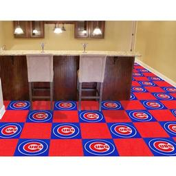 "Click here to learn more about the Chicago Cubs Carpet Tiles 18""x18"" tiles."