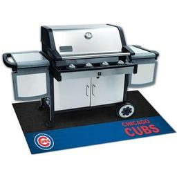 "Click here to learn more about the Chicago Cubs Grill Mat 26""x42""."