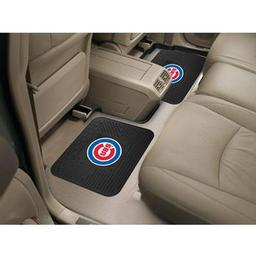 "Click here to learn more about the Chicago Cubs Backseat Utility Mats 2 Pack 14""x17""."