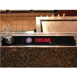 "Click here to learn more about the Chicago Cubs Drink Mat 3.25""x24""."