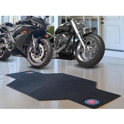 "Click here to learn more about the Chicago Cubs Motorcycle Mat 82.5"" L x 42"" W."