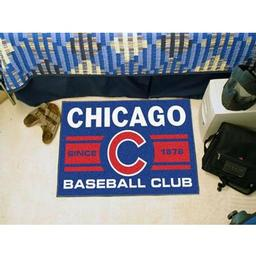 "Click here to learn more about the o Cubs Baseball Club Starter Rug 19""x30""."