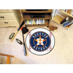"Click here to learn more about the Houston Astros Baseball Mat 27"" diameter."