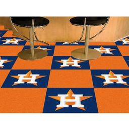 "Click here to learn more about the Houston Astros Carpet Tiles 18""x18"" tiles."