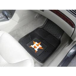 "Click here to learn more about the Houston Astros Heavy Duty 2-Piece Vinyl Car Mats 17""x27""."