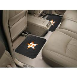"Click here to learn more about the Houston Astros Backseat Utility Mats 2 Pack 14""x17""."