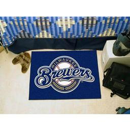 "Click here to learn more about the Milwaukee Brewers Starter Rug 20""x30""."