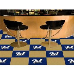 "Click here to learn more about the Milwaukee Brewers Carpet Tiles 18""x18"" tiles."