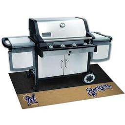 "Click here to learn more about the Milwaukee Brewers Grill Mat 26""x42""."