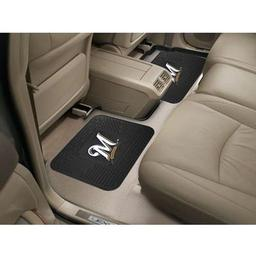 "Click here to learn more about the Milwaukee Brewers Backseat Utility Mats 2 Pack 14""x17""."