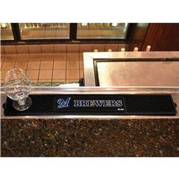 "Click here to learn more about the Milwaukee Brewers Drink Mat 3.25""x24""."