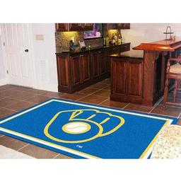 "Click here to learn more about the Milwaukee Brewers ""Ball in Glove"" Rug 5''x8''."
