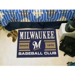 "Click here to learn more about the kee Brewers Baseball Club Starter Rug 19""x30""."