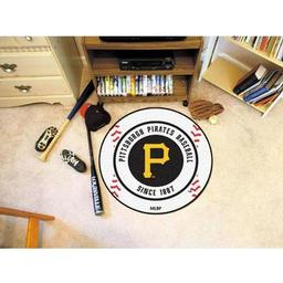 "Click here to learn more about the Pittsburgh Pirates Baseball Mat 27"" diameter."