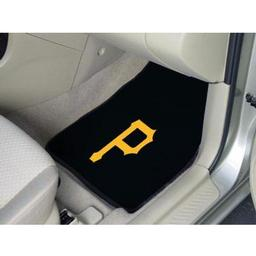 "Click here to learn more about the Pittsburgh Pirates 2-piece Carpeted Car Mats 17""x27""."