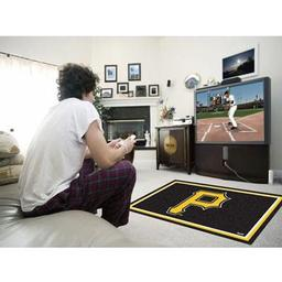 Click here to learn more about the Pittsburgh Pirates Rug 4''x6''.