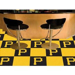"Click here to learn more about the Pittsburgh Pirates Carpet Tiles 18""x18"" tiles."