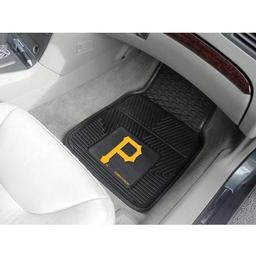 "Click here to learn more about the Pittsburgh Pirates Heavy Duty 2-Piece Vinyl Car Mats 17""x27""."