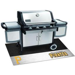 "Click here to learn more about the Pittsburgh Pirates Grill Mat 26""x42""."