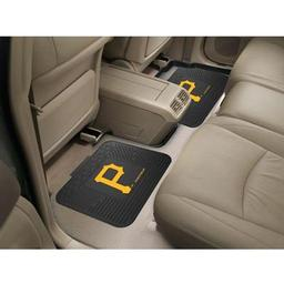 "Click here to learn more about the Pittsburgh Pirates Backseat Utility Mats 2 Pack 14""x17""."