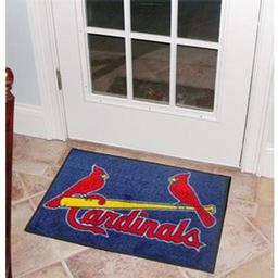 "Click here to learn more about the St. Louis Cardinals Starter Rug 20""x30""."