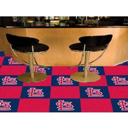 "Click here to learn more about the St. Louis Cardinals Carpet Tiles 18""x18"" tiles."