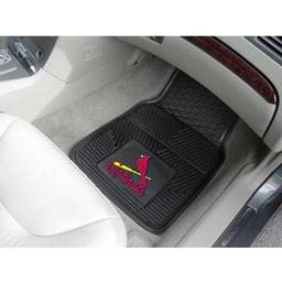 "Click here to learn more about the St. Louis Cardinals Heavy Duty 2-Piece Vinyl Car Mats 17""x27""."