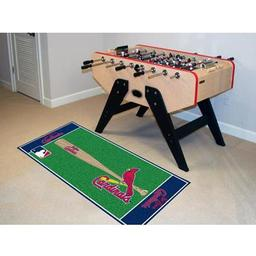 "Click here to learn more about the St. Louis Cardinals Baseball Runner 30""x72""."