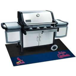 "Click here to learn more about the St. Louis Cardinals Grill Mat 26""x42""."
