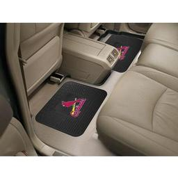"Click here to learn more about the St. Louis Cardinals Backseat Utility Mats 2 Pack 14""x17""."
