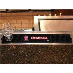 "Click here to learn more about the St. Louis Cardinals Drink Mat 3.25""x24""."