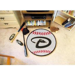 "Click here to learn more about the Arizona Diamondbacks Baseball Mat 27"" diameter."
