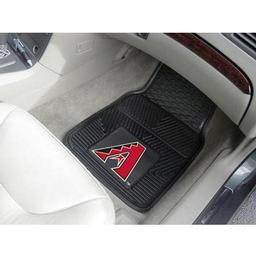 "Click here to learn more about the Arizona Diamondbacks Heavy Duty 2-Piece Vinyl Car Mats 17""x27""."