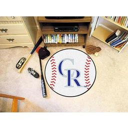 "Click here to learn more about the Colorado Rockies Baseball Mat 27"" diameter."