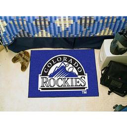 "Click here to learn more about the Colorado Rockies Starter Rug 20""x30""."