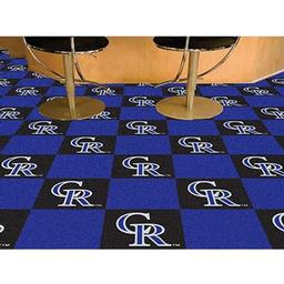"Click here to learn more about the Colorado Rockies Carpet Tiles 18""x18"" tiles."