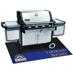 "Click here to learn more about the Colorado Rockies Grill Mat 26""x42""."