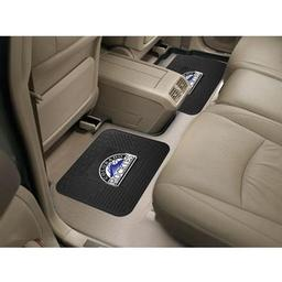 "Click here to learn more about the Colorado Rockies Backseat Utility Mats 2 Pack 14""x17""."