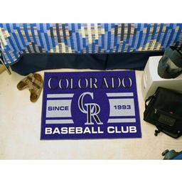 "Click here to learn more about the do Rockies Baseball Club Starter Rug 19""x30""."
