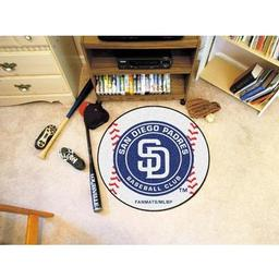 "Click here to learn more about the San Diego Padres Baseball Mat 27"" diameter."