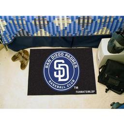 "Click here to learn more about the San Diego Padres Starter Rug 20""x30""."
