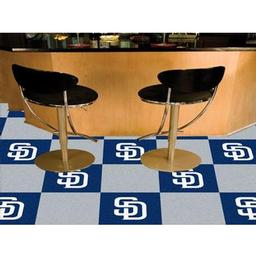 "Click here to learn more about the San Diego Padres Carpet Tiles 18""x18"" tiles."