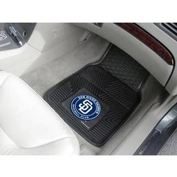 "Click here to learn more about the San Diego Padres Heavy Duty 2-Piece Vinyl Car Mats 17""x27""."