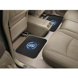 "Click here to learn more about the San Diego Padres Backseat Utility Mats 2 Pack 14""x17""."