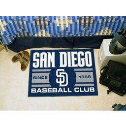 "Click here to learn more about the ego Padres Baseball Club Starter Rug 19""x30""."