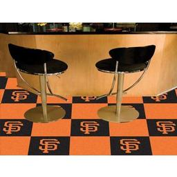 "Click here to learn more about the San Francisco Giants Carpet Tiles 18""x18"" tiles."
