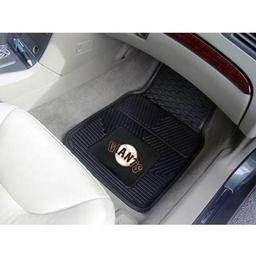"Click here to learn more about the San Francisco Giants Heavy Duty 2-Piece Vinyl Car Mats 17""x27""."