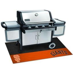 "Click here to learn more about the San Francisco Giants Grill Mat 26""x42""."