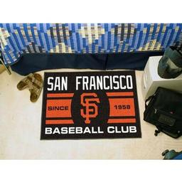 "Click here to learn more about the ancisco Giants Baseball Club Starter Rug 19""x30""."